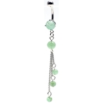 Flourite Green Aventurine Tri-Stone Dangling Belly Ring image