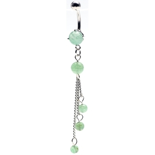 Adventurine Tri-Stone Belly Button Rings for Sale - Sold!