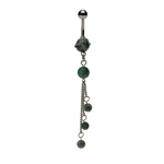 Amazonite Tri-Stone Dangling Belly Ring image