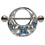 Blue Gem Butterfly Nipple Shield image