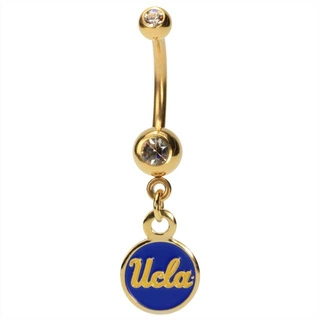 Gold Plated UCLA Bruins Dangling Belly Ring