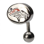 Denver Broncos NFL Top Down Belly Ring image