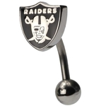 Oakland Raiders NFL Top Down Belly Ring image