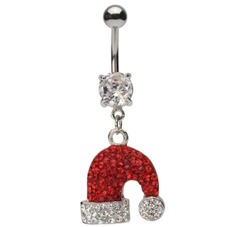 Holly Needs Jolly Christmas Belly Button Ring