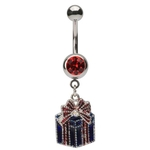 Dangling Present Belly Ring image