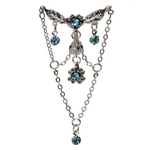 Vintage Flowers Top Down Chandelier Belly Ring image