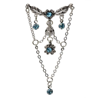 Vintage Flowers Top Down Chandelier Belly Ring