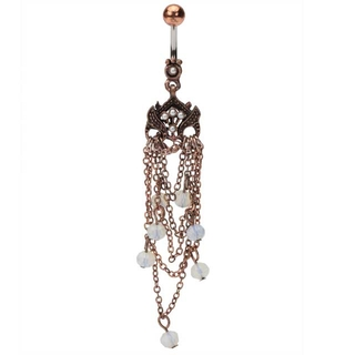 Copper Chandelier w/Opal Beads Belly Ring