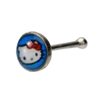 Blue Hello Kitty Nose Stud image