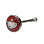 Red Hello Kitty Nose Ring image