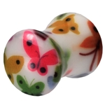 2 Gauge UV Double Flared Butterfly Ear Plug image
