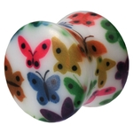1/2'' Gauge UV Double Flared Butterfly Ear Plug image