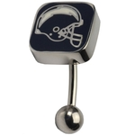 NFL Football San Diego Chargers Belly Ring image