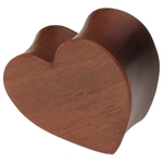1'' Gauge Heart Shaped Cherry Wood Plug image