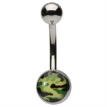 Camouflage Belly Button Ring image