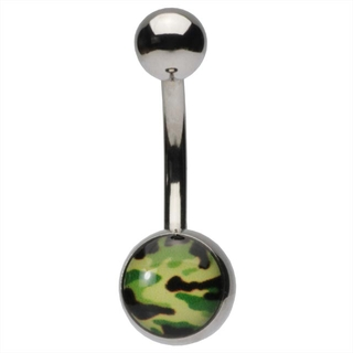 Camouflage Belly Button Ring
