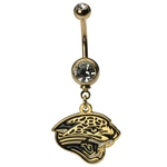 NFL Belly Ring Dangling Jacksonville Jaguars image