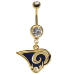 NFL Belly Ring St Louis Rams image
