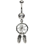 Dream Catcher Belly Button Ring image