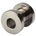 2 Gauge Screw Fit Flesh Tunnel Surgical Steel image