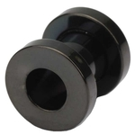 2 Gauge Screw Fit Flesh Tunnels Black Titanium Plated image