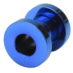 2 Gauge Screw Fit Flesh Tunnels Blue Titanium Plated image