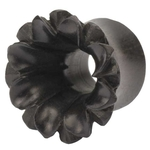 00 Gauge Black Areng Wood Lotus Tunnel Plug image