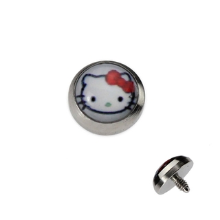 White Hello Kitty Dermal Anchor Top
