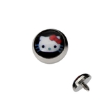 Black Hello Kitty Dermal Anchor Top image