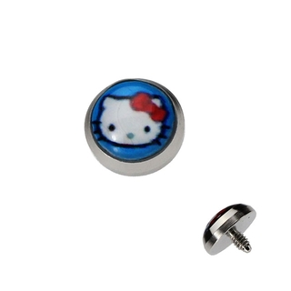 Aqua Hello Kitty Dermal Anchor Top