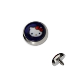 Purple Hello Kitty Dermal Anchor Top image