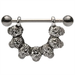 Seven Skull Nipple Ring image