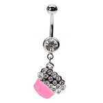 Neon Cupcake Belly Ring image