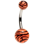 Tiger Stripe Belly Button Ring image