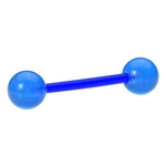 Blue Bioflex Glow In The Dark Tongue Ring Barbell image