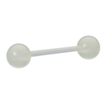 Clear Bioflex Flexible Glow In The Dark Barbell Tongue Ring image