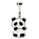 Panda Bear Belly Ring image