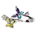 Fancy Butterfly Sterling Silver Toe Ring image