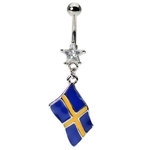 Flag of Sweden Belly Ring image