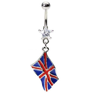 Flag of United Kingdom Belly Ring