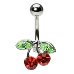 Red Hot Cherry Belly Ring image