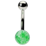 Stone Belly Ring  - Green image