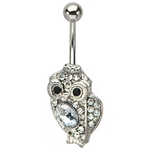 Owl Belly Button Ring image