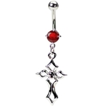 Gothic Cross Belly Button Rings image