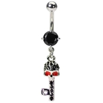 Skeleton Key Belly Button Rings image