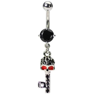 Skeleton Key Belly Button Rings