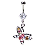 Fancy Butterfly Belly Button Ring image