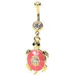 Gold Plated Turtle Belly Button Rings image