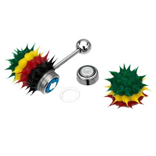 Vibrating Tongue Ring Rasta Koosh