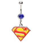 Superman Belly Button Ring image